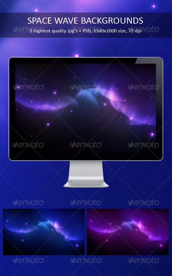 Space Wave Backgrounds - Backgrounds Graphics