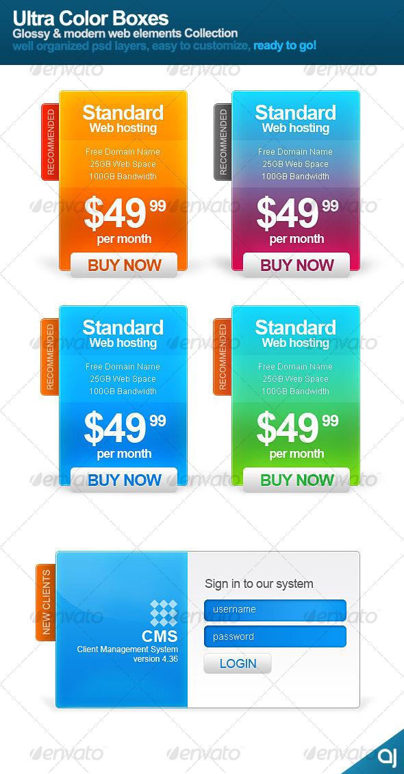 GraphicRiver Ultra Color Boxes 79326
