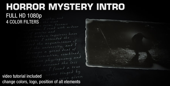 After Effects Project - VideoHive Horror Mystery Intro 2115858