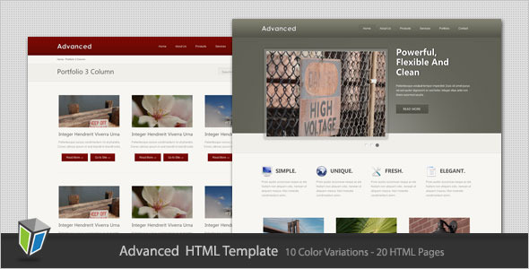 Advanced - Business and Portfolio HTML Template