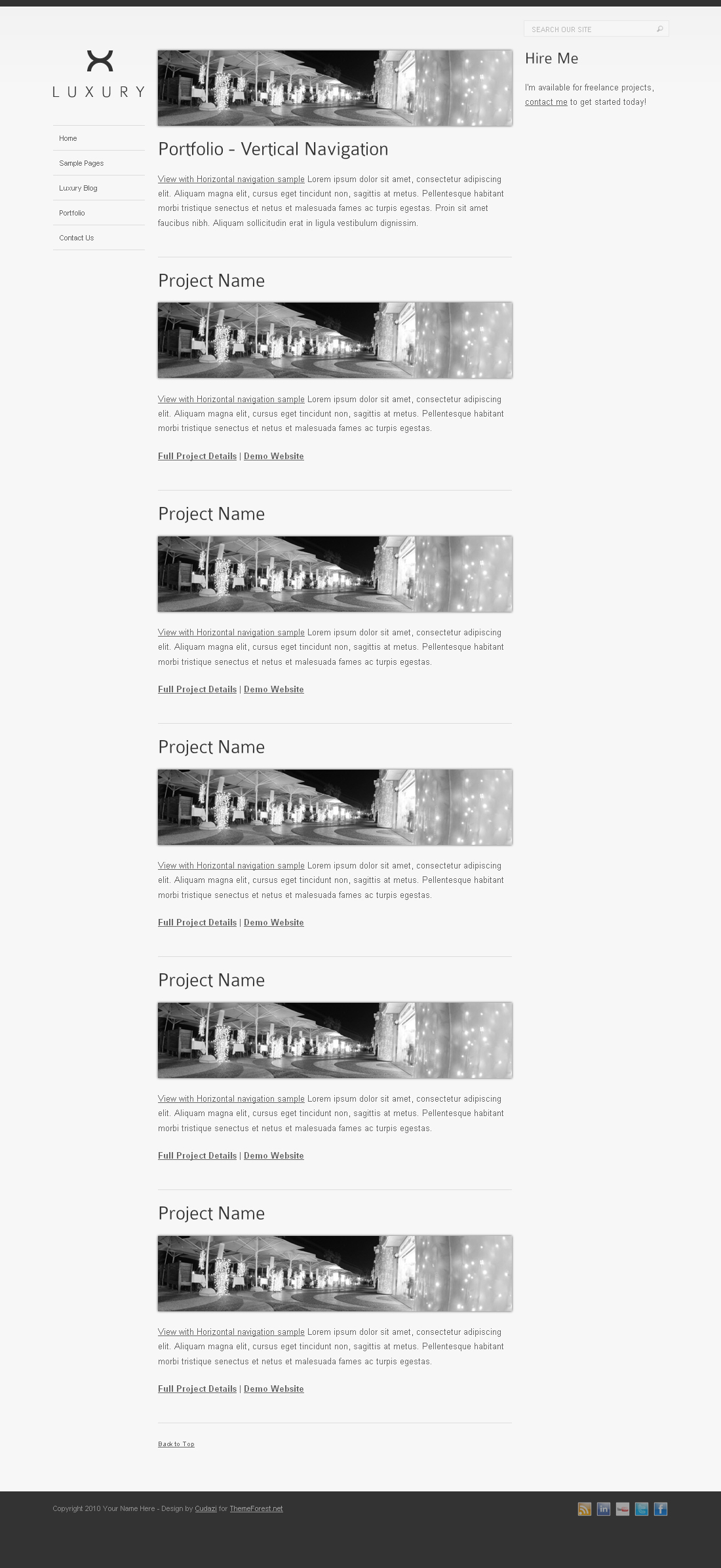 Luxury HTML Template by Cudazi
