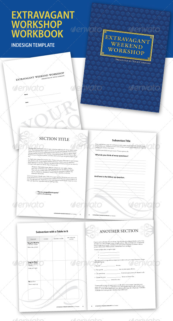 workbook template indesign - seminar workbook templates stock photos