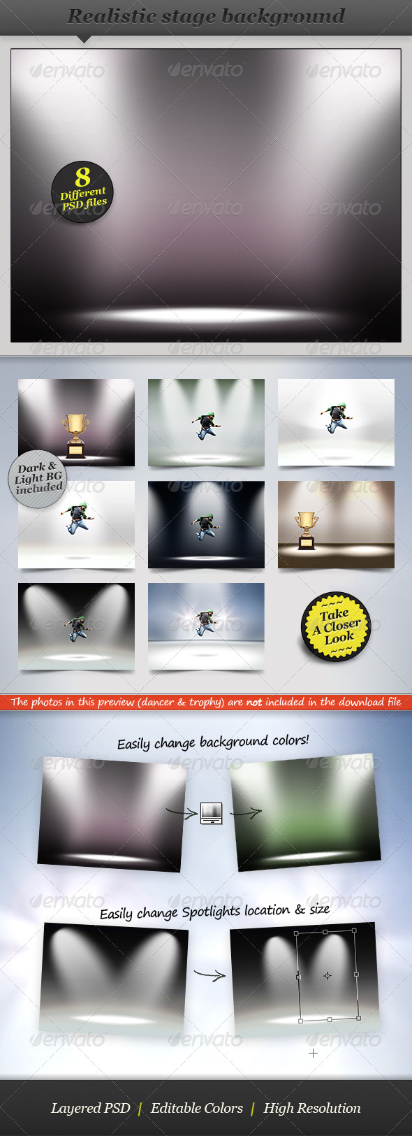 Spotlight Background - Product Showcase Display - Backgrounds Graphics