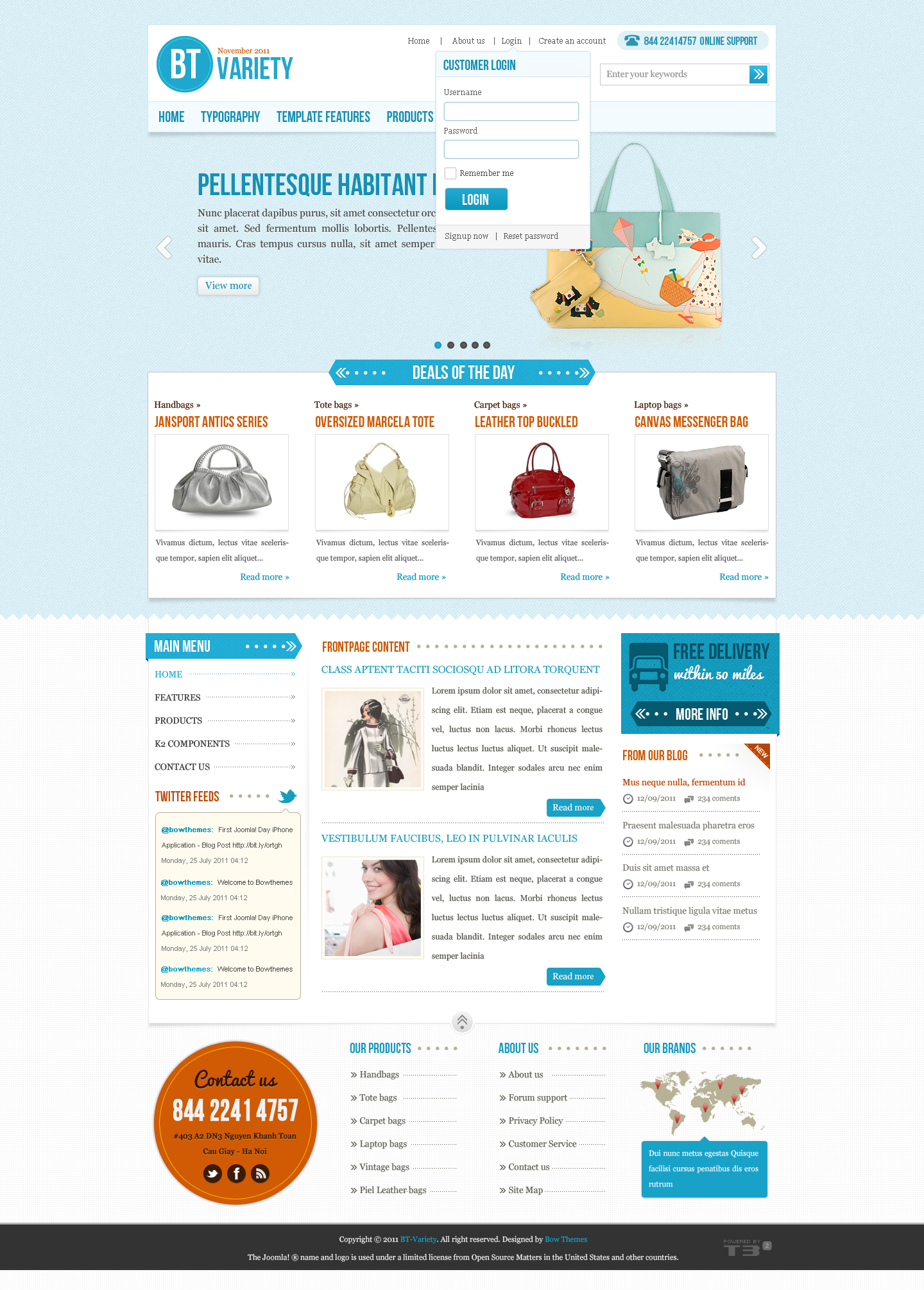 BT Variety - Fashion Catalog Joomla Template