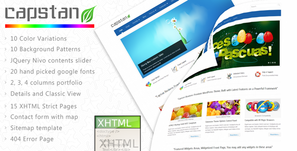ThemeForest Capstan Business Premium XHTML Template 240599