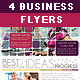 4 Clean Business Flyers - GraphicRiver Item for Sale