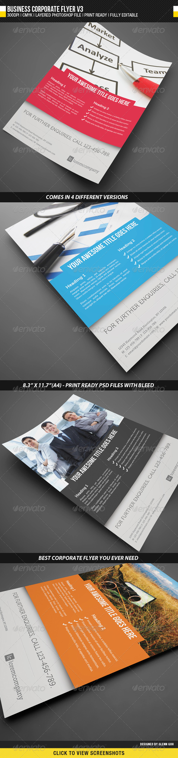 Business Corporate Flyer V3 - Corporate Flyers