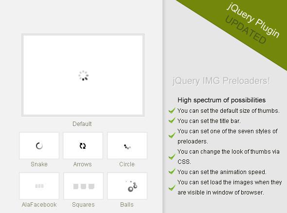 CodeCanyon jQuery IMG Preloaders 162233