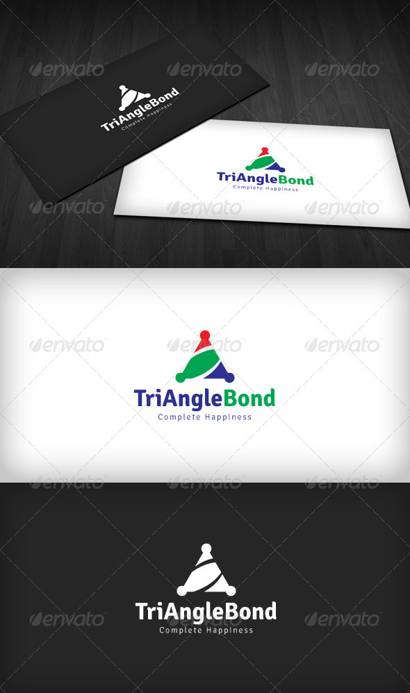 Triangle Bond Logo - Humans Logo Templates
