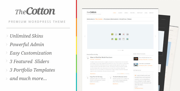 ThemeForest The Cotton Powerful Minimalistic WordPress Theme 240813