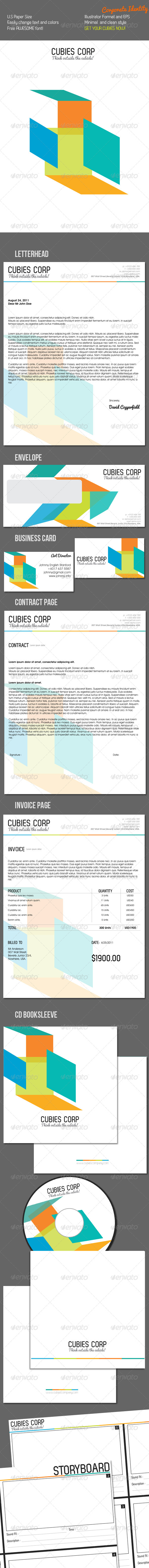 Cubies Corporate Identity - Stationery Print Templates