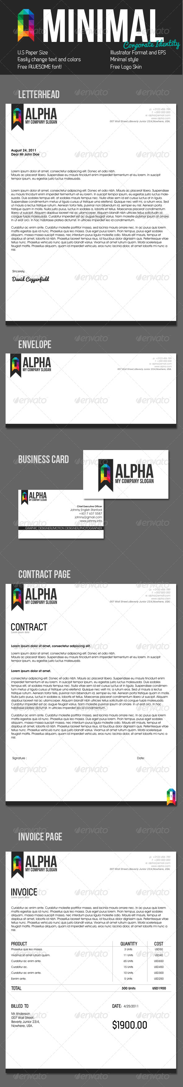 Clean Style Corporate Identity - Stationery Print Templates