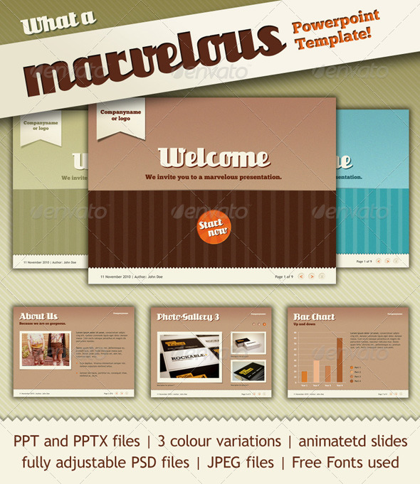GraphicRiver Marvelous PowerPoint Template 156628