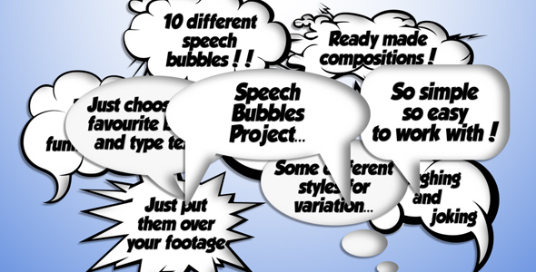 After Effects Project - VideoHive Speech Bubble 241070