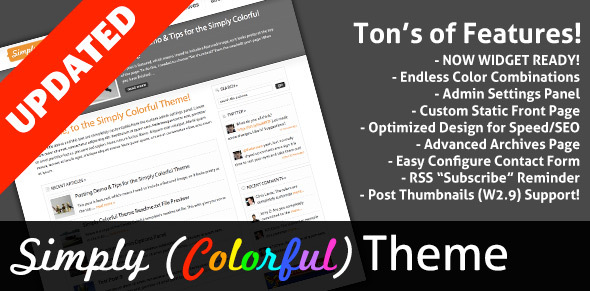 ThemeForest Simply Colorful 79068