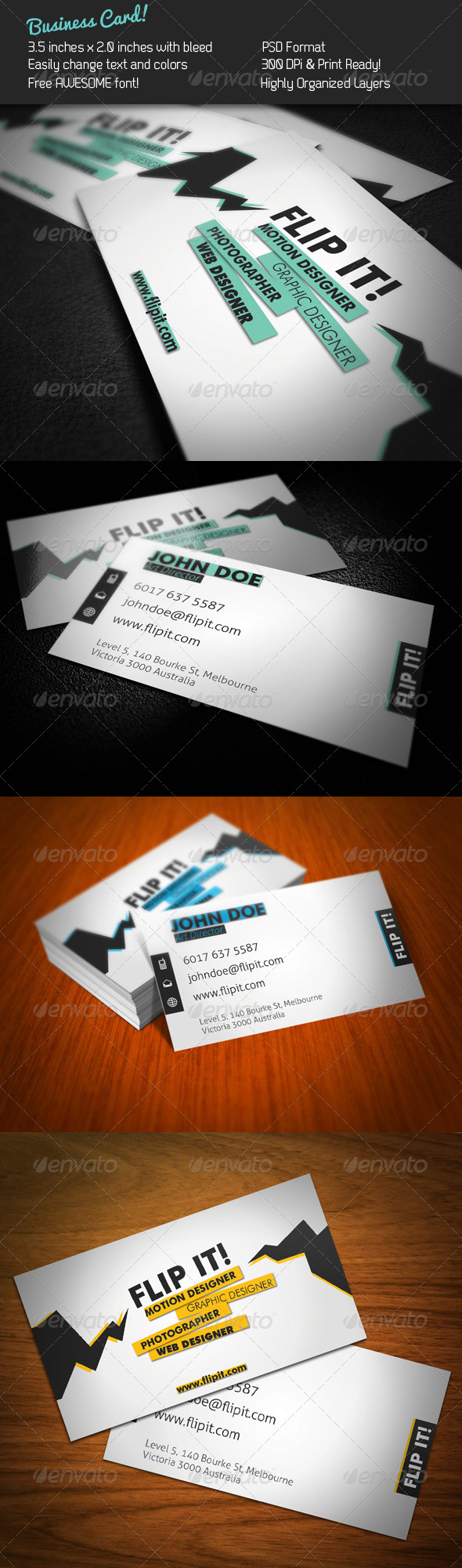 FLIP IT! Business Card - Creative Business Cards