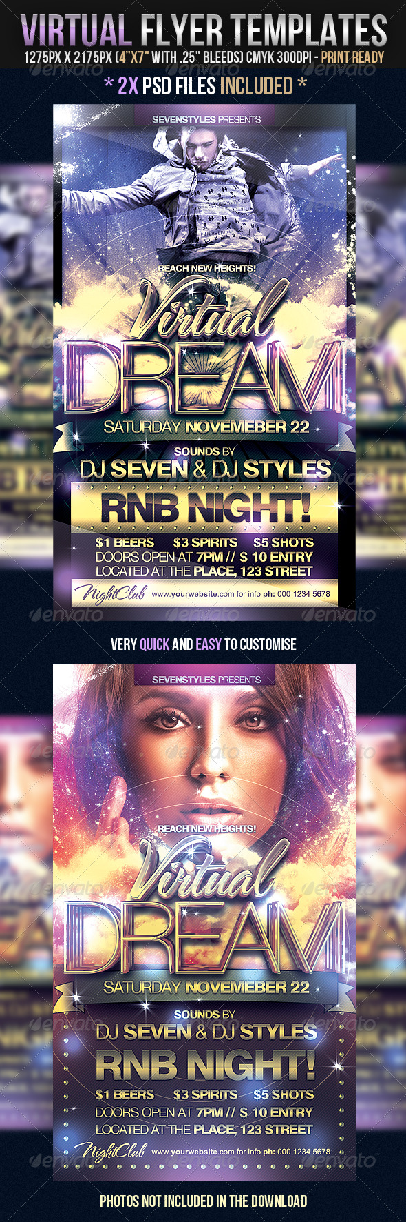 Virtual Flyer Templates - Clubs & Parties Events