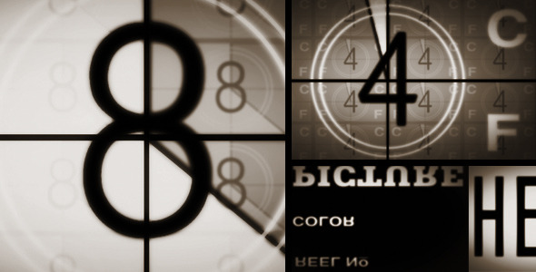 VideoHive Brown Style Film Counter With Sound 2127690