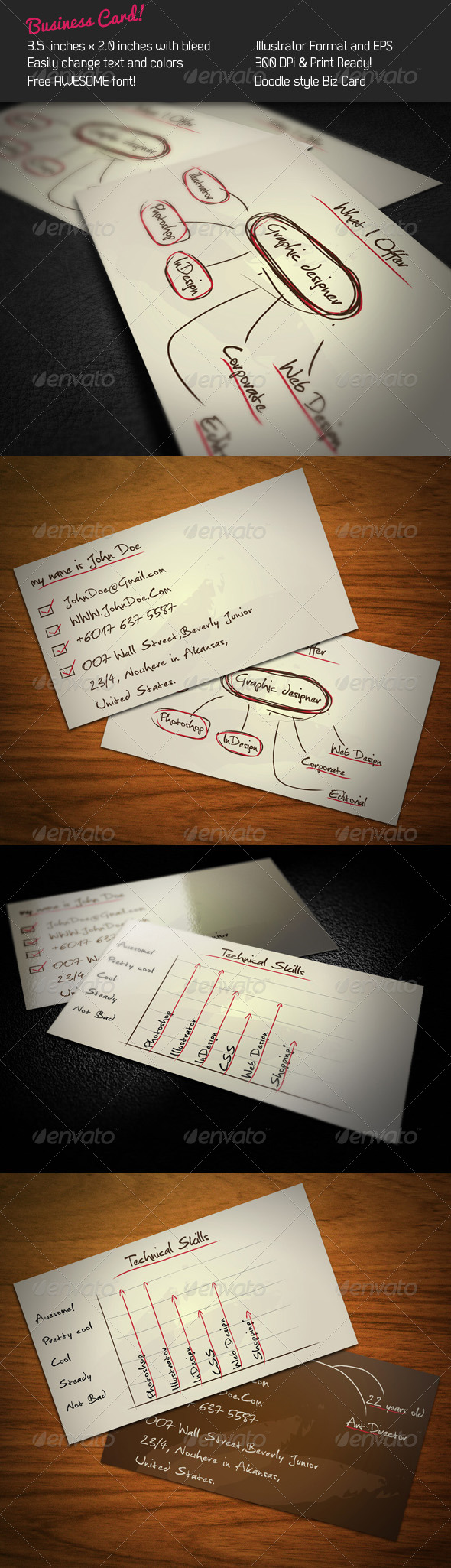 GraphicRiver Doodle Business Card 241342