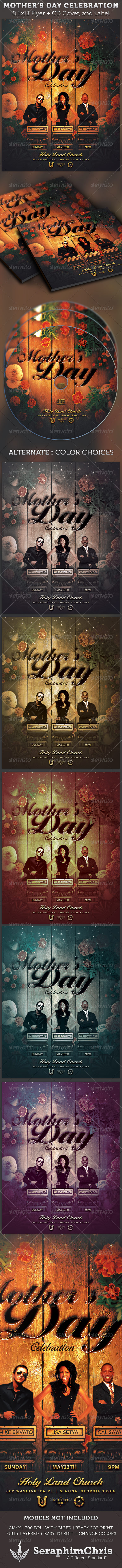 Graphic River Mother's Day Celebration Flyer and CD Cover Print Templates -  Flyers  Church 2129259