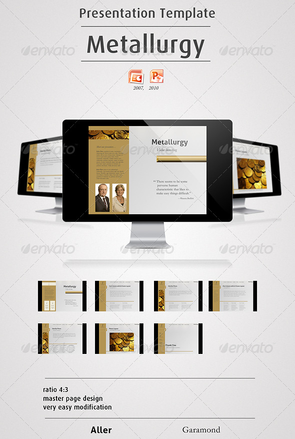 Metallurgy - Powerpoint Presentation - Finance Powerpoint Templates