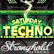 Techno Event Flyer Template - GraphicRiver Item for Sale