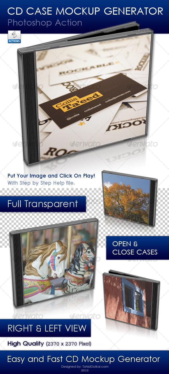 CD Case Mockup Generator