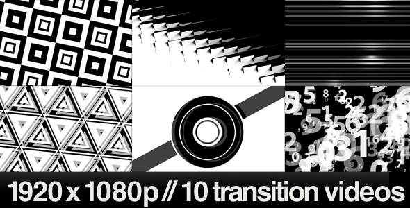 [VideoHive 241567] 10 HD Transitions Bundle A | Motion Graphics