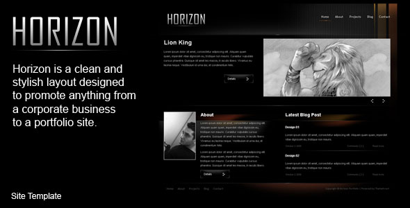 Horizon Html Template