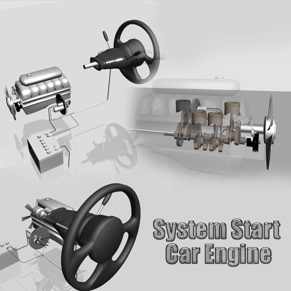 System Start Car Engine - 3DOcean Item for Sale