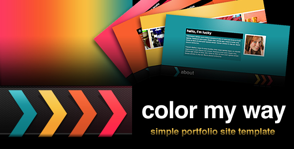 Color My Way - Simple Portfolio Site Template