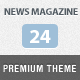 News Magazine 24 - ThemeForest Item for Sale