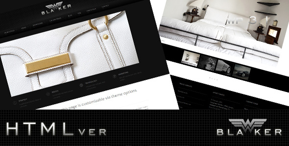 Blacker - HTML Version - Creative Site Templates
