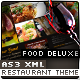 Food Deluxe AS3 XML Restaurant Template - ActiveDen Item for Sale