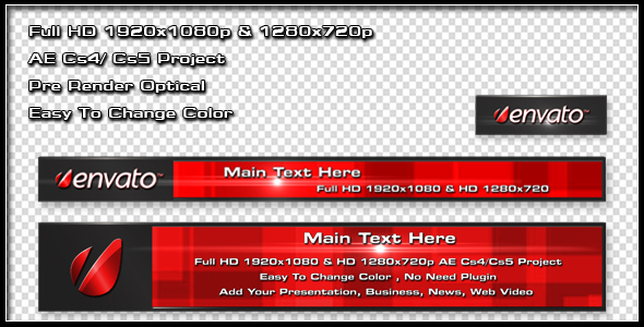 After Effects Project - VideoHive 3D Lower Third 242535