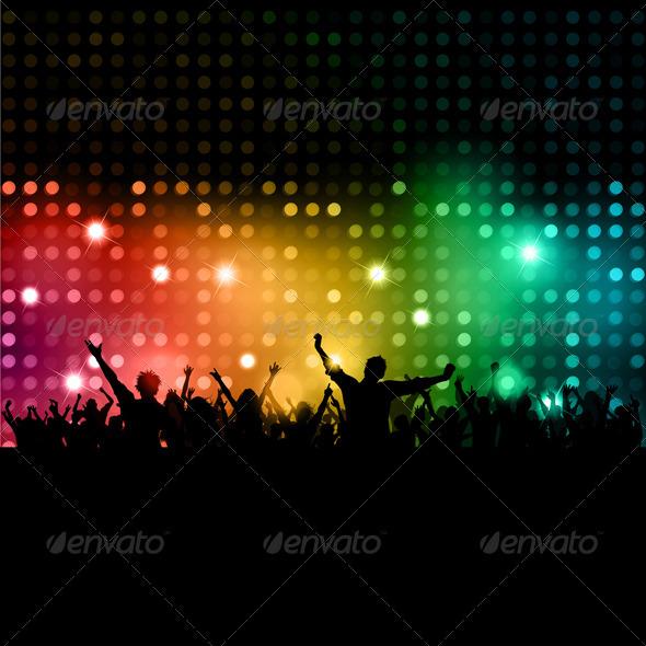 GraphicRiver Disco Crowd Background 2143553