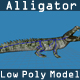 Lowpoly Alligator - 3DOcean Item for Sale
