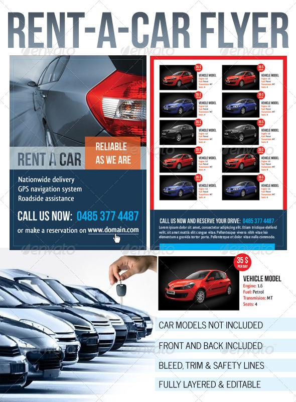 GraphicRiver Rent a Car Flyer 243275