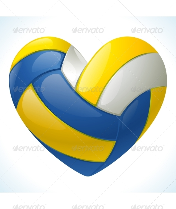 Volleyball in the shape of heart - Sports/Activity Conceptual