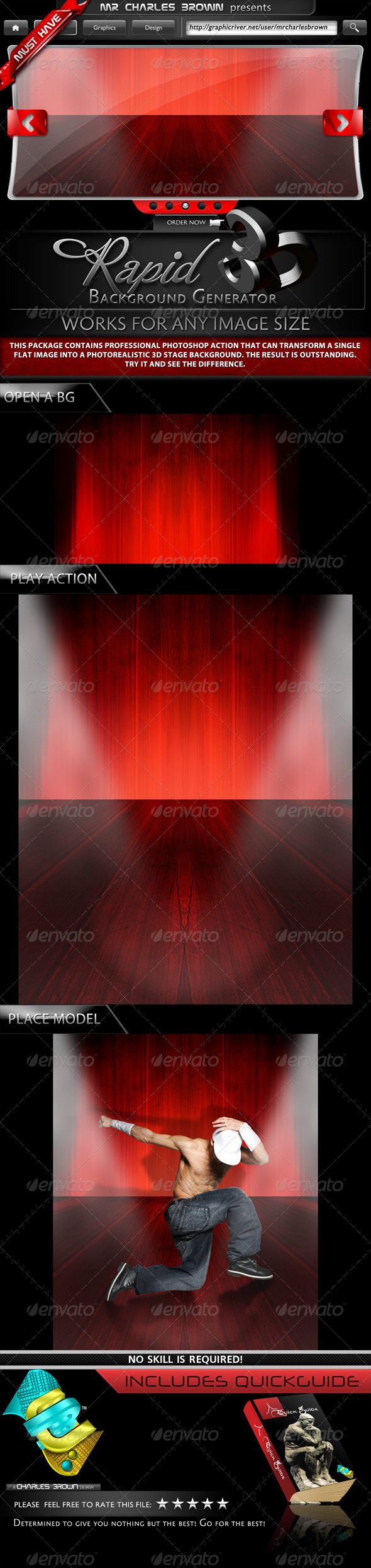 GraphicRiver Rapid 3D Background Generator 2085282