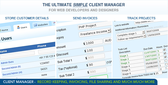 Ultimate Client Manager - CodeCanyon Item for Sale