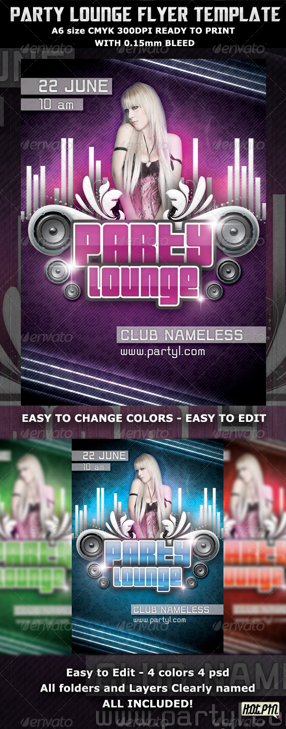 Party Lounge Flyer Template - Clubs & Parties Events