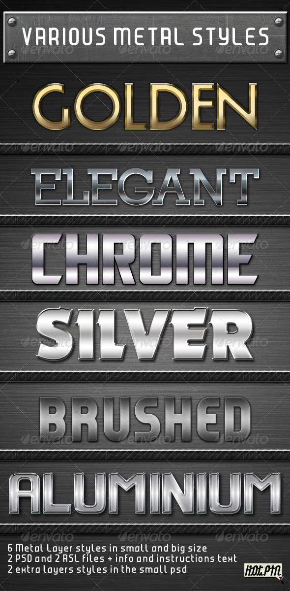 GraphicRiver Various Metal Layers Styles 231629