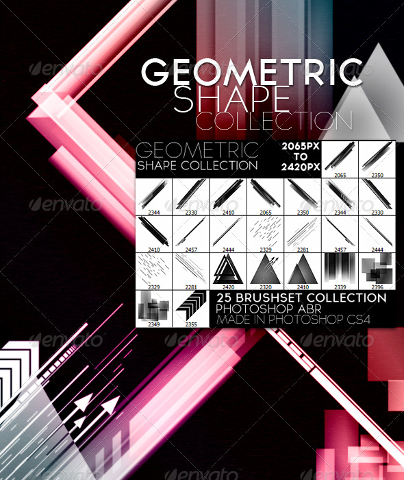 Geometric Shape Collection - Artistic Brushes
