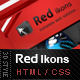 Red Ikons - 3D Creative Style - ThemeForest Item for Sale