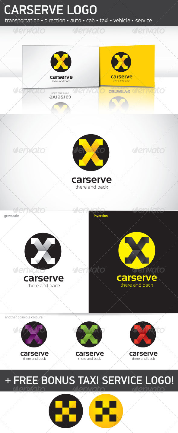 Car Serve Logo Template - Letters Logo Templates