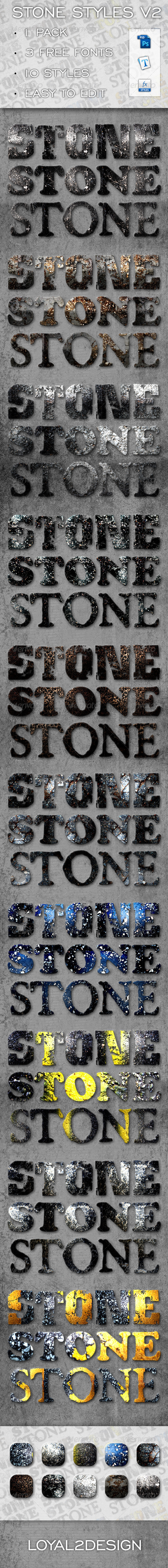 Stone Text Effects & Layer Styles - V2 - Text Effects Styles