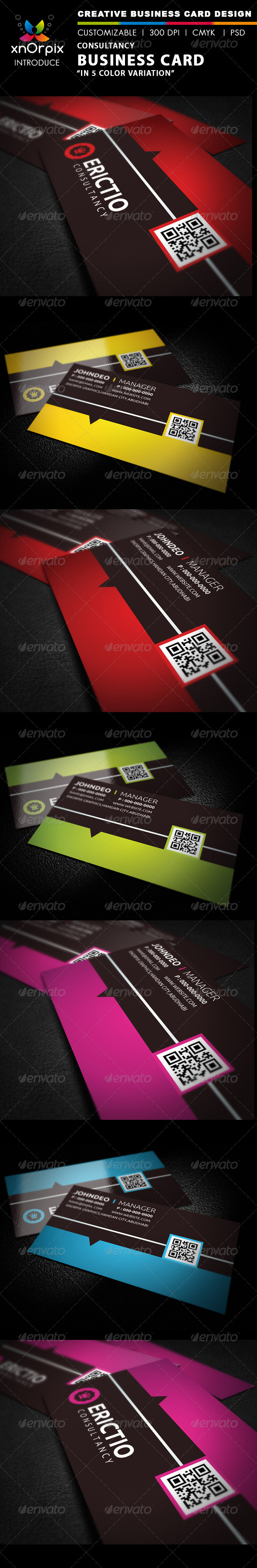 Consultancy Business Card - Business Cards Print Templates