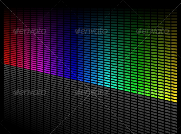 Vector digital equalizer - Backgrounds Decorative