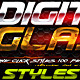 Digital Glass Photoshop Styles - GraphicRiver Item for Sale